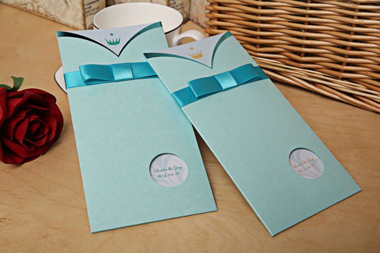 100 pieceslot Tiffany Blue Wedding Invitation Cards Paper Crafts