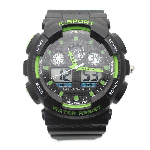 Esportes homens Relógios 30 M À Prova D' Água Moda Casual Relógio de Quartzo Digital LED Militar Multi-Função de Pulso