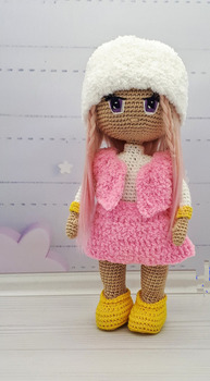 crochet toys  amigurumi  rattles  doll   girl   doll  model number  SBY0069