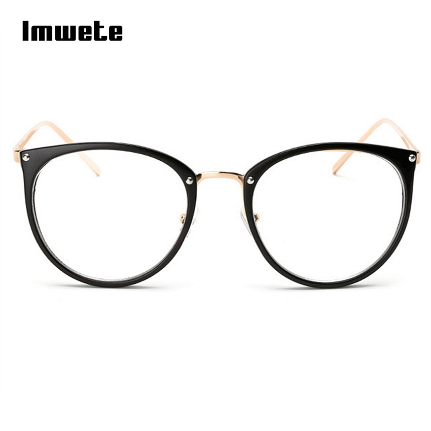 Imwete Oversized Glasses Frames Transparent Women's Frame Degree Eyeglasses Cat Eye Glasses Frame Clear Lens Glasses