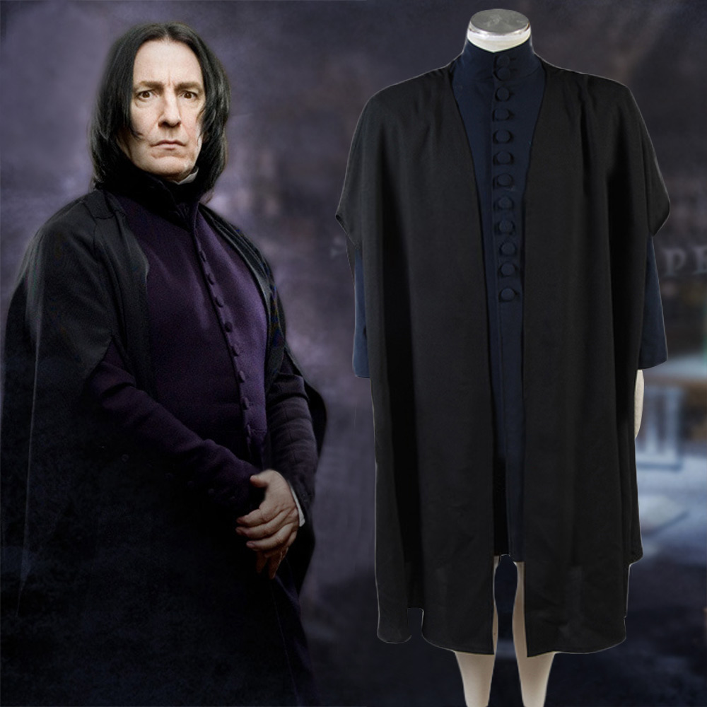 Deathly Hallows Professor Severus Snape Cosplay Costume Halloween Carnival Cosplay