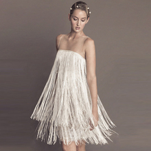 2016 Eugen yarn fashion sleeveless tassel lace dress loose sexy temperament lady female summer