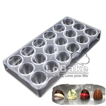 Latest 18 cavities dia.3.6cm depth 3cm pointed half ball cone shape polycarbonate chocolate mold ice mould for DIY cake tools