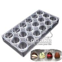 Molde de policarbonato para chocolate, molde de hielo de Media bola puntiaguda de 3cm de profundidad, 18 cavidades, molde de policarbonato para manualidades