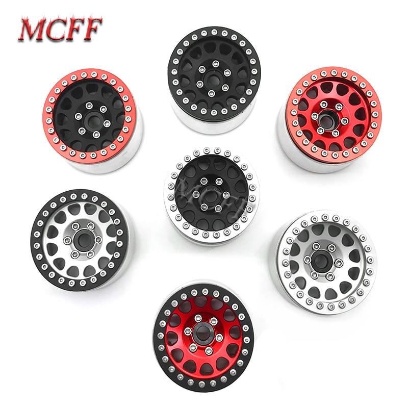 4Pcs Metal RC Rock Crawler 1.9 Inch Beadlock Wheel Rim Hub  For 1/10 Axial SCX10 90046 TAMIYA CC01 D90 D110 TF2 Traxxas TRX-4
