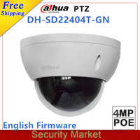 Original dahua 2MP SD22204T-GN updated by SD22404T-GN CCTV IP camera 4 Megapixel Full HD Network Mini PTZ Dome POE Camera