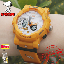 SNOOPY KIDS Military Watch 50m Waterproof Wristwatch LED Qua
