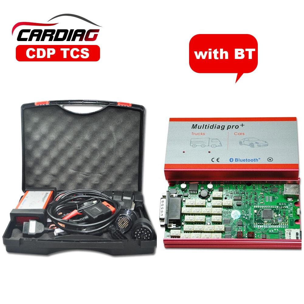 Prix pour Date 2015 R3 avec keygen Multidiag Pro CDP TCS PRO avec Bluetooth Outil De Diagnostic Pour Voitures Camions + 8 pcs Câbles De Voiture + En Plastique boîte