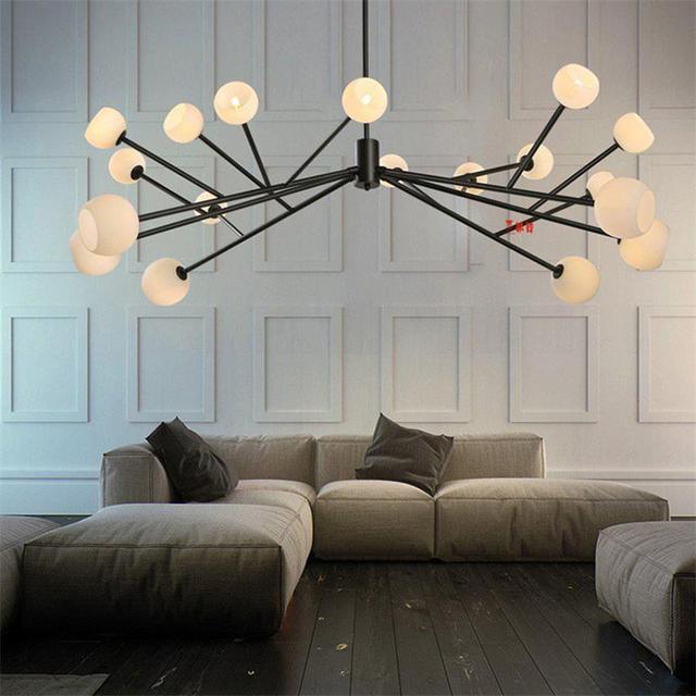 Nordic hanger glas lamp lampen voor woonkamer moderne verlichting ...