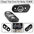 New Arrival  Two Models Black CNC Cut Air Cleaner Trim Cover For Harley Iron 883 Sportster XL883R XL1200