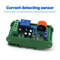 Frete grátis shell Banda 0-5A AC corrente do sensor para detectar a gama completa de linear ajustável saída de relé