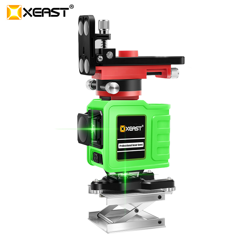 12 line 3D laser level for tile laying Self-Leveling 360 Horizontal And Vertical Cross Super Powerful Green Laser Beam Line
