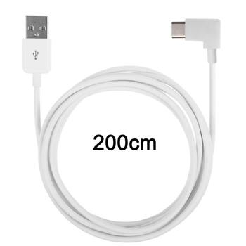 10pcs/lot USB 2.0 Male to 90 Degree Right Angled USB 3.1 Type C Male USB-C Cable for Tablet  & Mobile Phone 2m angular usb 3 0 para usb 3 1 usb c tipo c cabo 1 m 3ft 90 graus suporte 5 gbps direcao right angled 5 v 2a