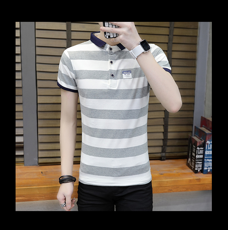 New summer high quality striped short sleeve polo shirt men brand clothing fashion Korean casual slim fit male camisa 9018Z 13
