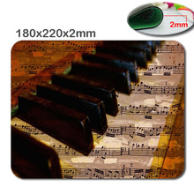 The piano Personalized Rectangle Non-Slip Rubber 3D HD quick printing gaming rubber sturdy pocket book mouse pad measurement 180mmx220mmx2mm