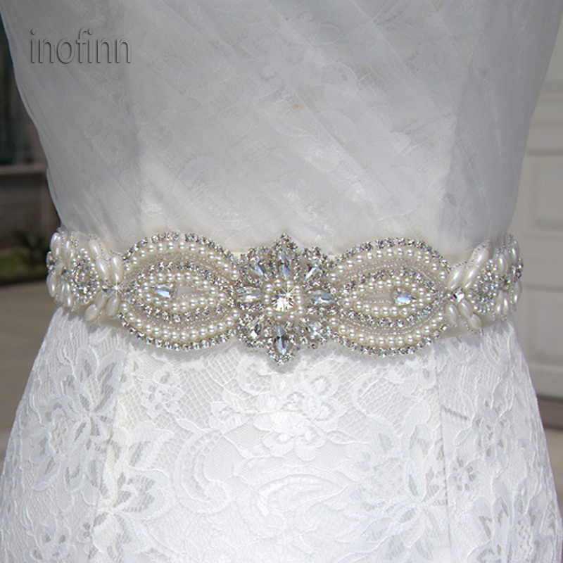 inofinn WH62 Crystal Rhinestones Evening Party Gown Dresses Accessories Wedding Belts Sashes,Bride Waistband Bridal Sashes Belts