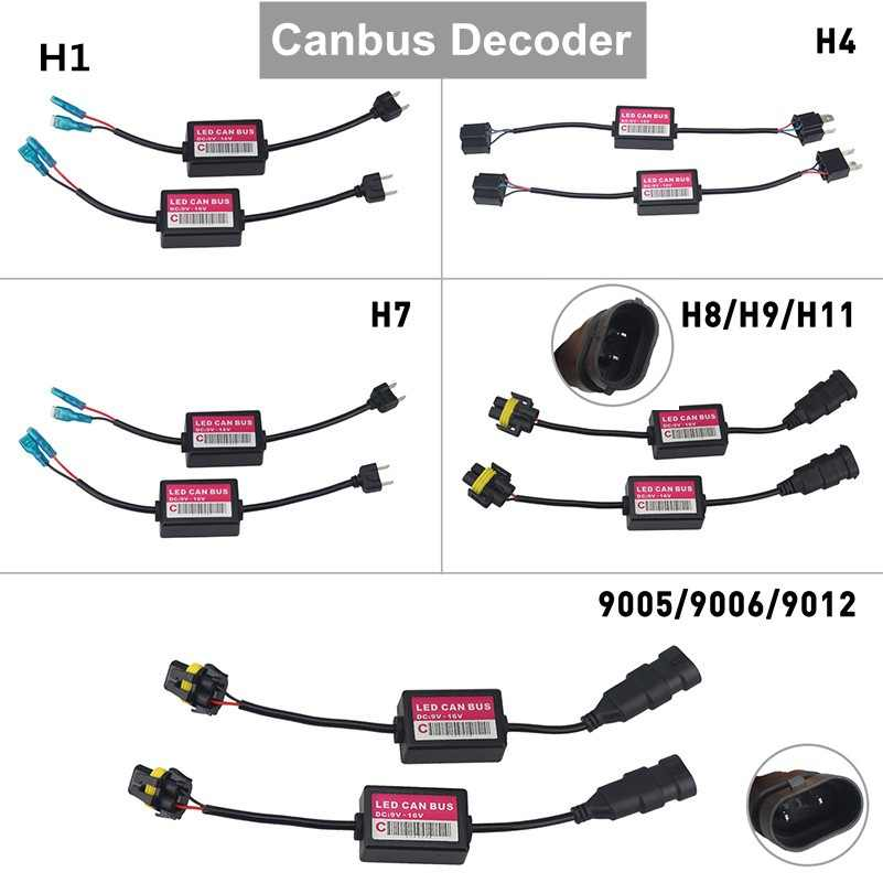 H4 H7 H8 H11 H1 HB3 9005 HB4 9006 9012 Error Free Canbus Decoder for LED Headlight for Car SUV Adapter Led Can-Bus Car Bulb Lamp