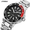 SINOBI Uhr Männer Handgelenk Uhren Leucht Zeiger Edelstahl Armband Luxus Marke Männlichen Sport Genf Quarz Uhren Saat