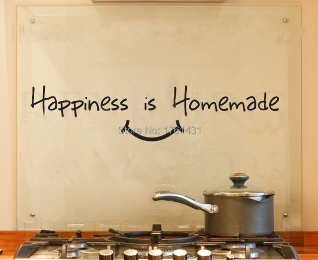 Happiness is Homemade Kitchen wall stickers home decoration wall art ...