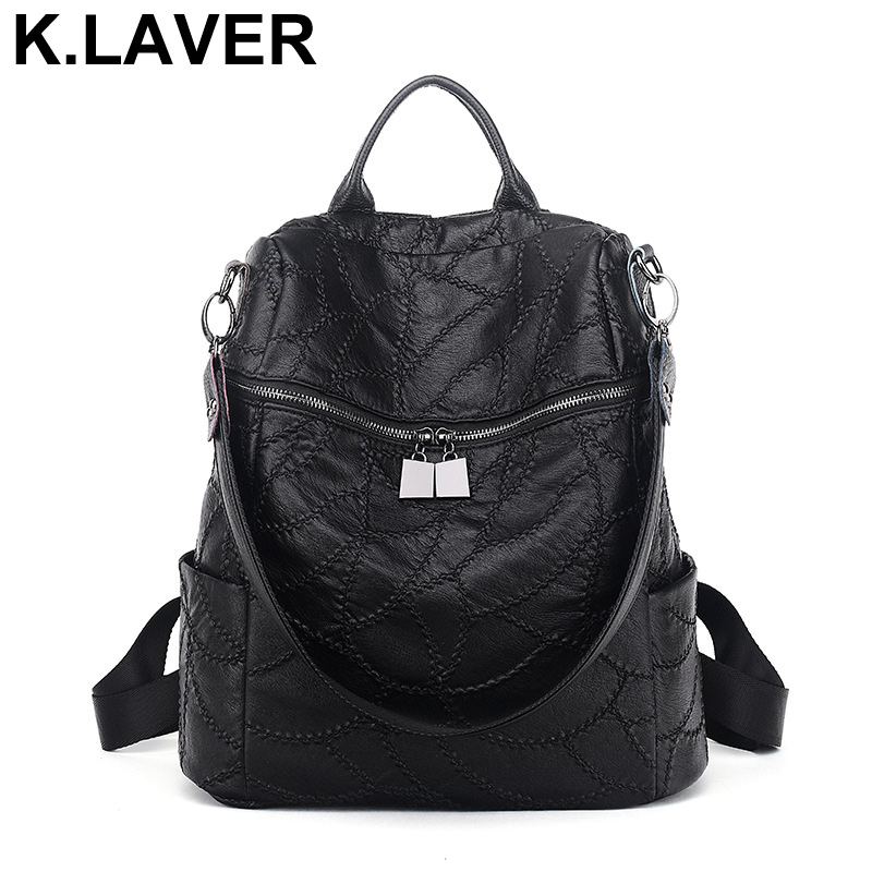 Genuine Leather Women Sheepskin Backpacks Teenage Girls Shoulder Bag Female Travel School Bags Ladies Backpack Mochila Bookbag 2016new rucksack luxury backpack youth school bags for girls genuine leather black shoulder backpacks women bag mochila feminina