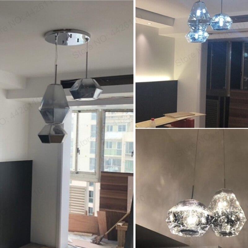 BLUBBLE colgante de acrílico luces Tom Dixon figura lámpara colgante metálico Crysta Hanglamp pasillo del Hotel SALÓN DE colgando de la lámpara LED - 5