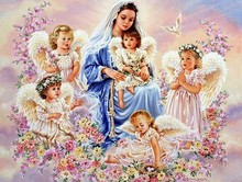 Hand made painting mural cross stitch Full Diamond art diy 5d diamond painting Available Little Angel Home Decoration gift