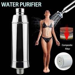 1 zestaw domowy oczyszczacz wody chloru filtr prysznicowy z węglem aktywnym krany oczyszczanie eliminuje chloru bardzo ciężko wody w łazience w Filtry do wody od AGD na