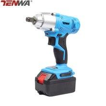 TENWA 21V Electric Impact Wrench 4000mAh Lithium Battery Cordless Wrench Home Repair Power Tool Brush Brushless