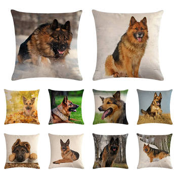 18x18 World Famous Dog Wolfhound Burlap Decorative Pillow Case Cushion Cover Protector Slip Pillowcase Gifts ZY1298 image