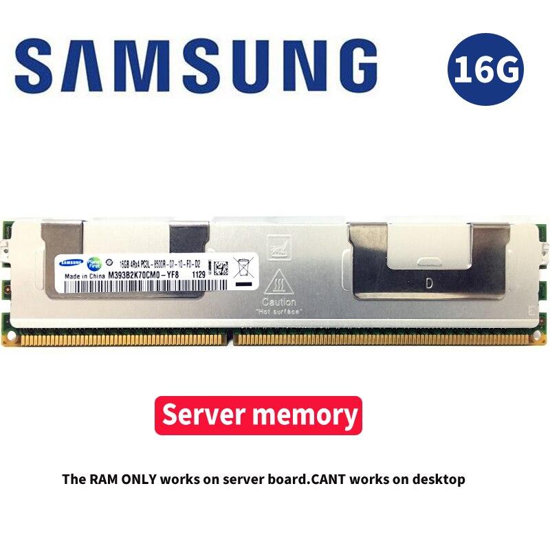Samsung 16 GB 16G Serveur Mémoire DDR3 PC3 1066 Mhz 1333 Mhz 1600 Mhz 1866 Mhz Module 8500R 10600R 12800R 14900R ECC REG 1866 1600 RAM