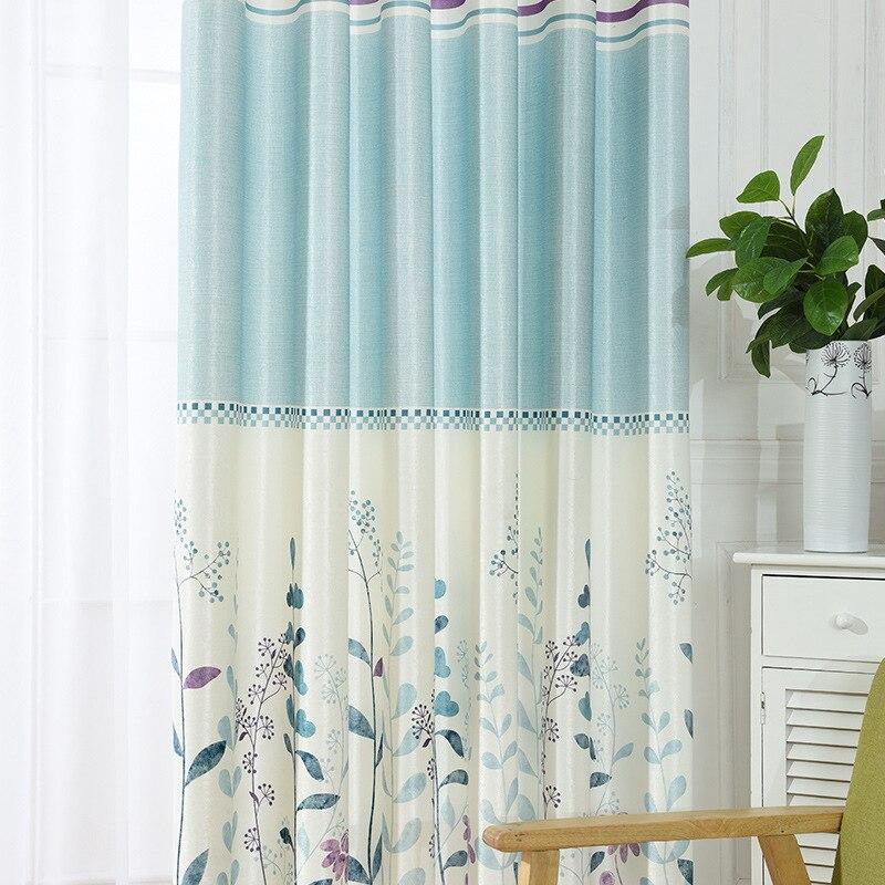 Elegant Modern Print Curtains Exquisite Sun Shade Curtains
