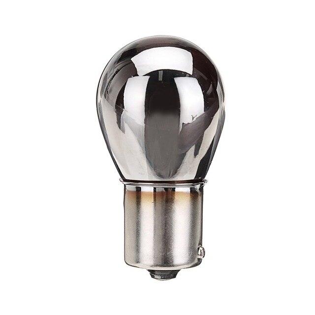 CHROOM ZILVER AMBER ACHTER INDICATOR LAMPEN 581 BAU15S PY21W RICHTINGAANWIJZER S25 12 V Essentiële Accessoires