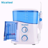 Nicefeel Adjustable 10 Level Dental Floss Water Oral Irrigator Flosser Teeth Cleaner 1000ML Large Capacity Tank UV Sterilization