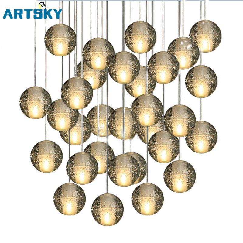 Moderne 36 Leuchten Magische Kugel Lster Loft Treppenhaus Kristall Licht Led Dusche Lampe Fr Treppen