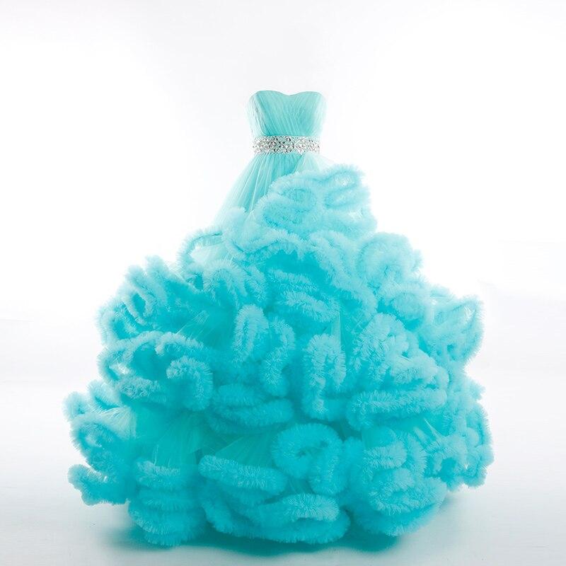 Réel photo d'hiver De Luxe Pregant Top Qualité Dentelle Jusqu'à Cloud puffy Robe De Mariage Bourgogne Robes De Mariée Robe De Mariage Rouge 2018