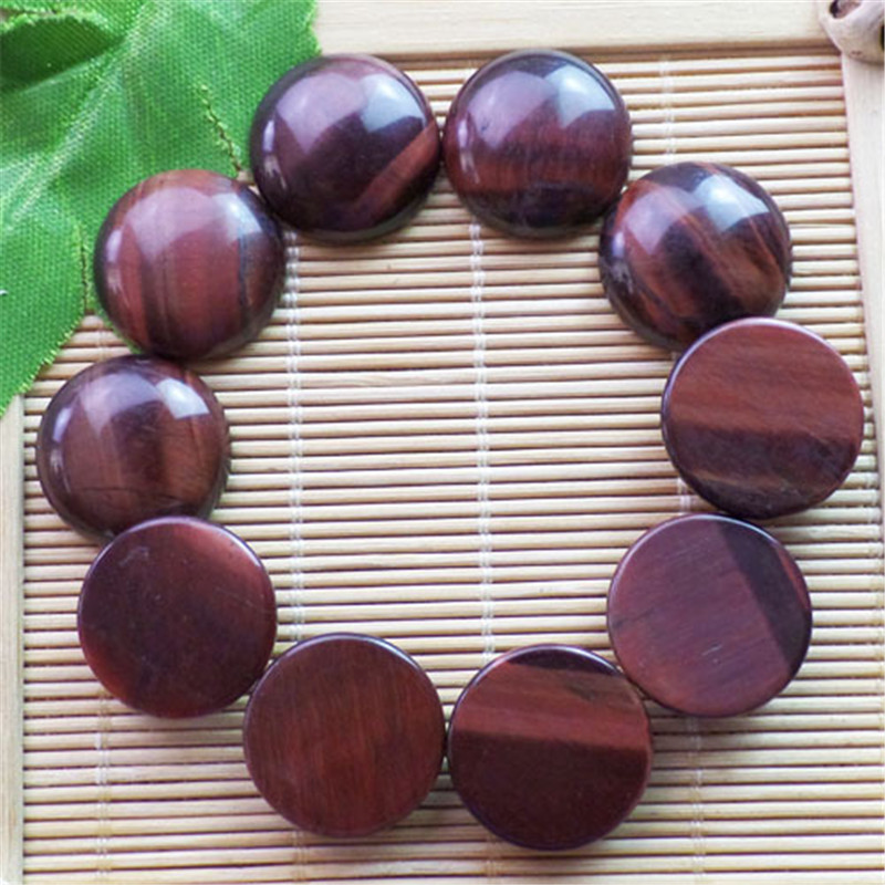 (10 pieces/lot) Wholesale Natural Red Tiger Eye Gem Round CAB CABOCHON 20x6mm Free Shipping Fashion Jewelry ZY3358