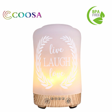 Flame Lamp Aessential Oil diffuser 100ml Ultrasonic Aroma Waterless Auto-off Steam difusor Aromaterapia Mister Maker