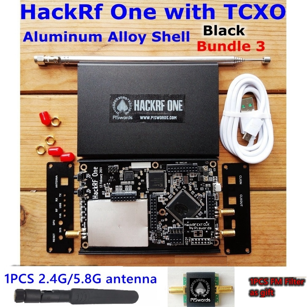 HackRF One SDR Software Defined Radio 1MHz to 6GHz Mainboard Development board kit  with portapack fm filter antenna-in Demo Board from Computer & Office    3