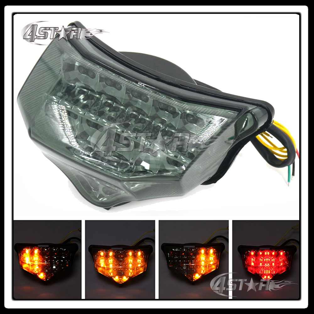 Free Shipping Rear Turn Signal Tail Stop Light Lamp Integrated Brake Light For FZ6 Fazer 600 2004 2005 2006 2007 2008 2009 high quanlity rear bumper brake light tail light stop light taillight taillamp for chevrolete captiva 2008 2009 2010