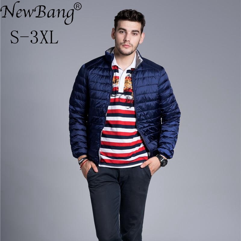 NewBang Brand   Down     Coat   Male Ultra Light   Down   Jacket Men Double Side Feather Reversible Parka Windbreaker Lightweight Jackets