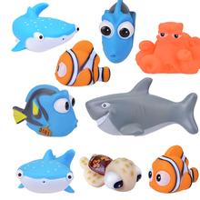 1PCS New Baby Bath Toy Animal Squeeze DebblingToys Float Wate Rubber Bathroom Fun  Play Animals Fish Tortoise Toys for Kids
