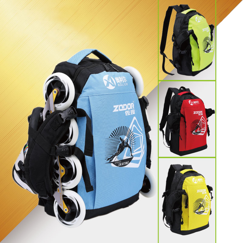 Professional Speed Skate Backpack for Inline Skating Shoe Bag with Head Helmet Container Waterproof Oxford Cloth Camping Bag BB1