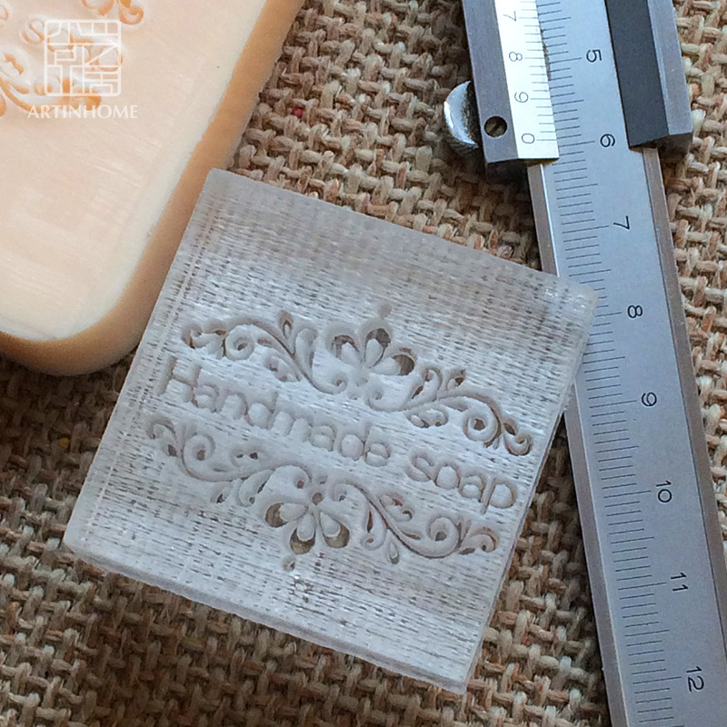 2016 free shipping natural handmade acrylic soap seal stamp mold chapter minidiy handmade soap patterns organic glass 4X4cm 0079 soap handmade resin soap stamp seal soap mold mould 1 97 x1 57