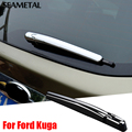 2 Pçs/set Para Ford Kuga Fuga 2013-2017 Limpador Traseiro Do Carro Covers ABS Chrome Tirm Chromium Styling Decoração Cauda Auto Acessórios