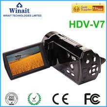 3.0″LCD display digital video camera HDV-V7 full hd 1080p 32GB memory 16X digital zoom photo+video digital camcorder
