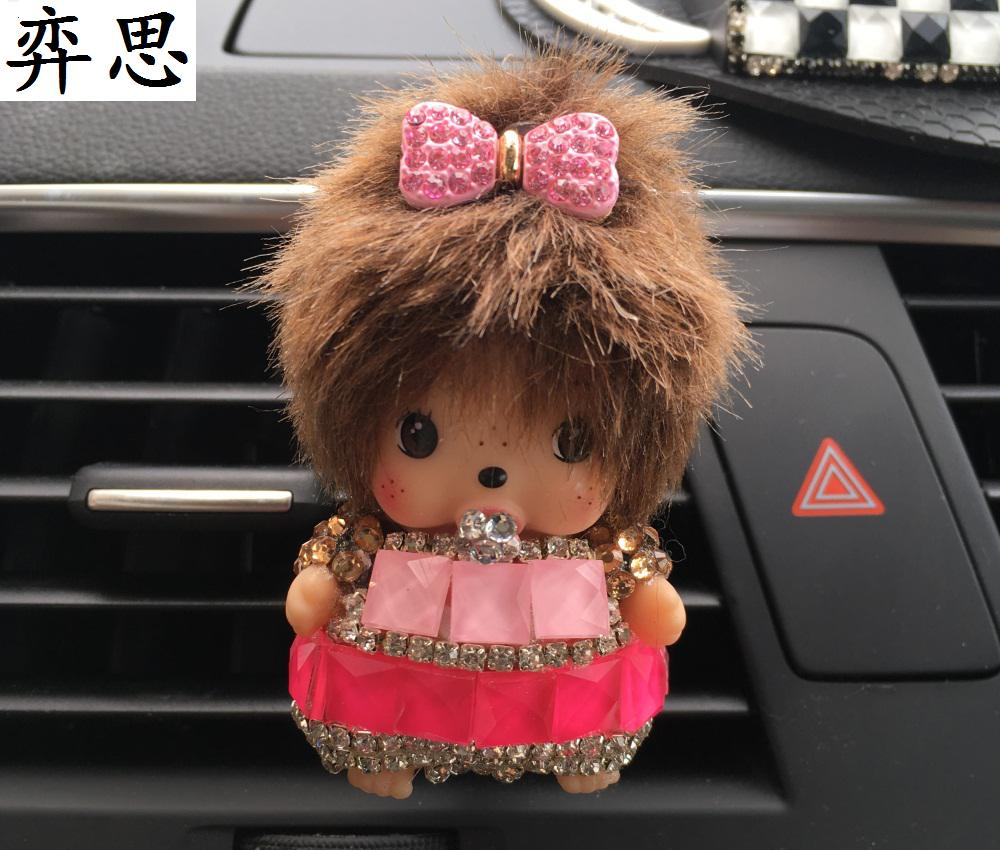 Car styling Kiki diamond Automobile air conditioner air outlet perfume clip Perfume seat for automobile female Cartoon Exquisite