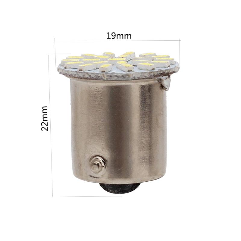 100 PCS Car 1157 LED BAY15D 3014 Chip 22SMD Auto LED Light Lamp Turn Signal Brake Lights White .7