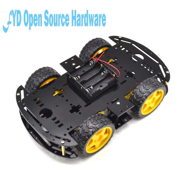 b8ecea5c4 1 pc black Motor Smart Robot Car Chassis Electronic Manufacture DIY Kit  Speed Encoder Battery Box