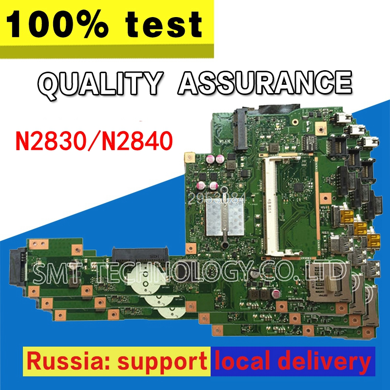 X553MA Motherboard REV2.0 N2830/N2840 For ASUS A553M X503M F503M Laptop motherboard X553MA Mainboard X553MA Motherboard test OK все цены