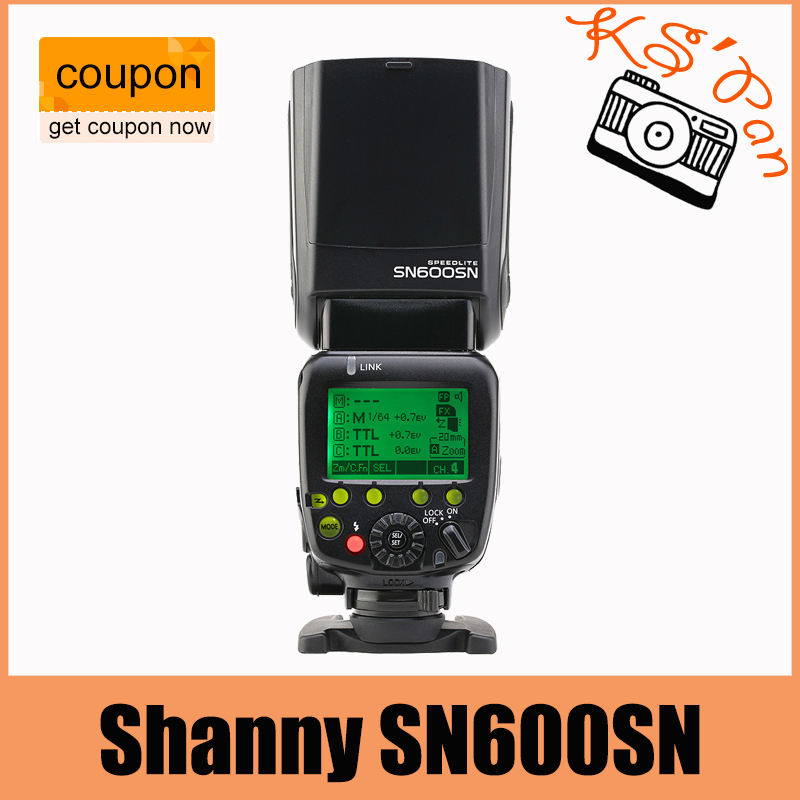 Shanny SN600SN Master Flash Speedlight High Speed Sync 1/8000s GN60 Flashgun for Nikon D3 D810 D800 D800E D700 D750 D610 D600 dste mb d12 multi power battery grip for nikon d800 d800e d810 camera black